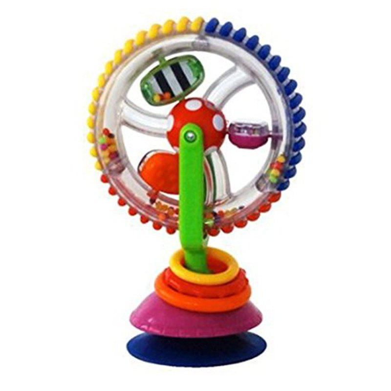 Baby Rattle Toys Tricolor Multi-touch Rotating Ferris Wheel Sucker