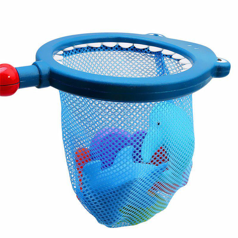Children Swimming Bath with Fishing Net Floating Animals Water Toy - multicolor A