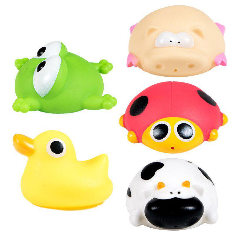 Spray Water Knead A Pinch Fun Evade Glue Animals Baby Bath Toy 5PCS baby animals take a bath