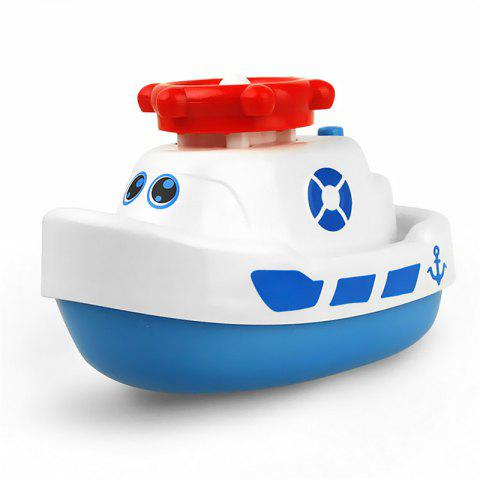 Creative Fun Small Electric Ship Water Spray Baby Bath Toy - WHITE