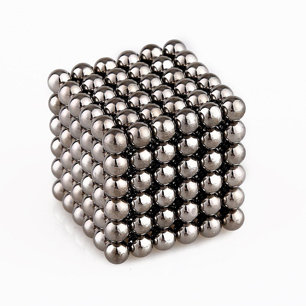 5mm Colorful Magnetic Ball Intelligence Toys 216PCS - DARK GRAY