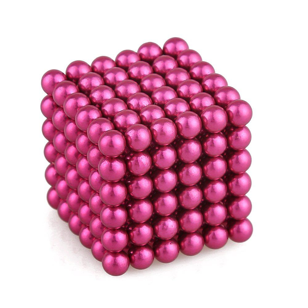 5mm Colorful Magnetic Ball Intelligence Toys 216PCS - PINK ROSE