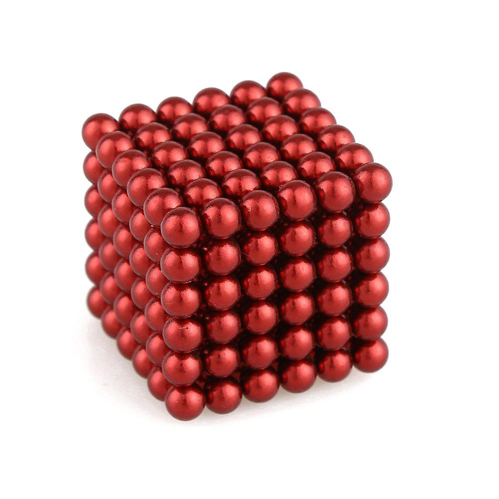 5mm Colorful Magnetic Ball Intelligence Toys 216PCS - RED