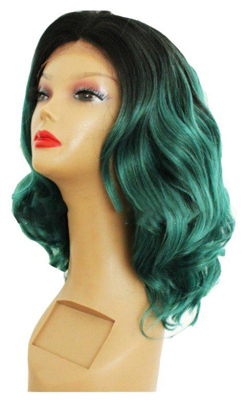 Gradient Deep Green Hand Hook High Temperature Silk Lace - SHAMROCK GREEN 16INCH