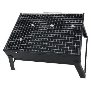 Portable  Field Grill BBQ Outdoor Travel Entertainment Camping Barbecue - BLACK