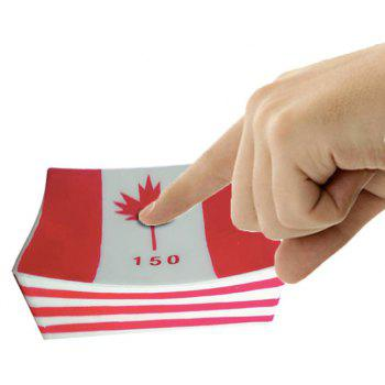 Jumbo Squishy Slow Rising Scented Squeeze Toy Canada Flag - multicolor