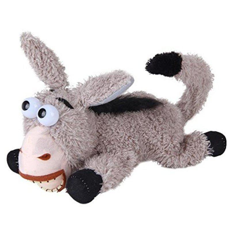 Laughing and Roll Comedy Donkey Music Plush Doll Stuffed Plush Toy new stuffed circled eyes light brown teddy bear plush 220 cm doll 86 inch toy gift wb8701