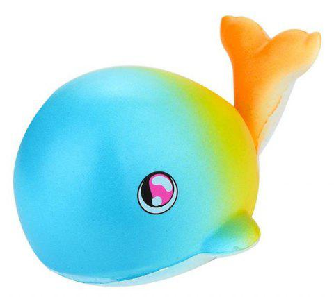 Jumbo Squishy Fluorescent Baleines Charme Slow Rising Jouet - multicolor A