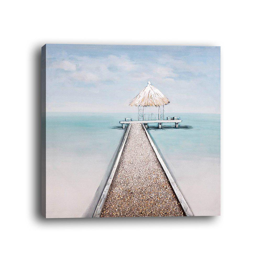 Framed Canvas Modern Room Bedroom Background Wall Small Fresh Seaside Print
