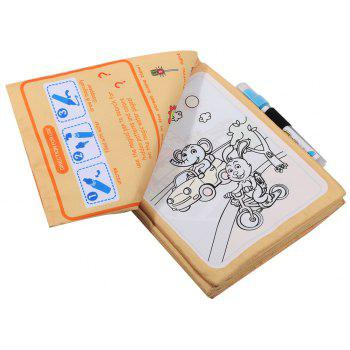 Children Early Education Educational Water Magic Graffiti Cloth Book - BLANCHED ALMOND
