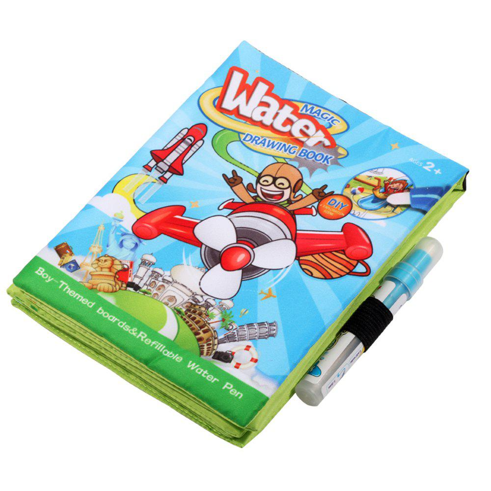 Water Magic Graffiti Cloth Book 4 Pages Cartoon Canvas Book