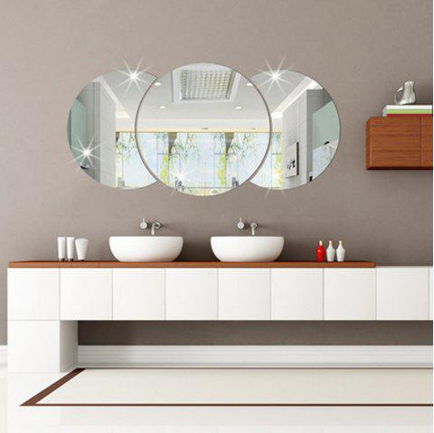 3D Personalized Stereo Crystal Mirror Wall Sticker - SILVER