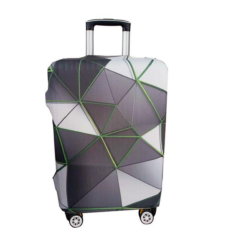 Fashion Printed Protecive Elastic Travel Luggage Cover - multicolor A L