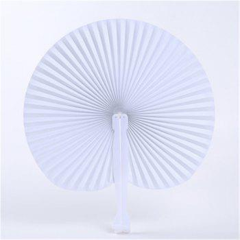 Folding White Heart-shaped Fans Paper for Wedding Party - WHITE SIZE 5