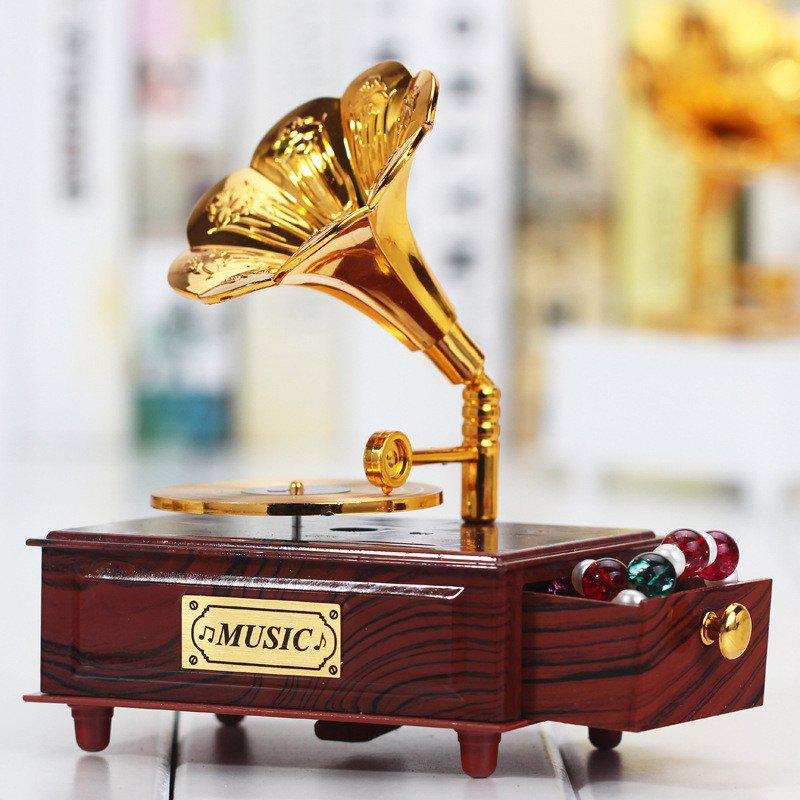 Creative Ancient Phonograph Music Box - BROWN