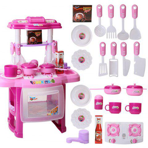Music Children Educational Lighting Music Cooking Table Across The Kitchen Toys - multicolor B