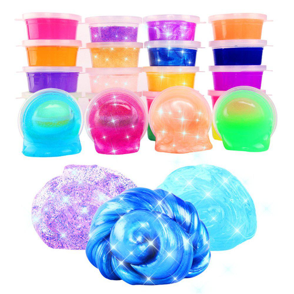 Colorful Crystal Non-toxic Jelly Color Mud 24PCS - multicolor A