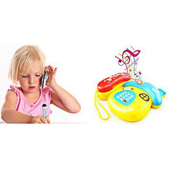 Electronic Toy Phone Cartoon Mushrooms Mobile Phone Educational Learning Music - YELLOW