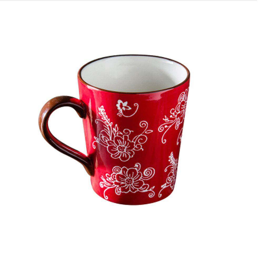 1 Piece Cute Ceramic Drinkware Cup - LAVA RED