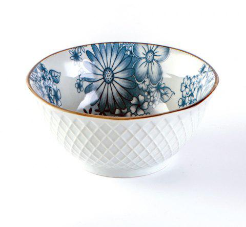 1 Piece Simple Style Ceramic Household Rice Bowl - BLUE IVY 13*13*6