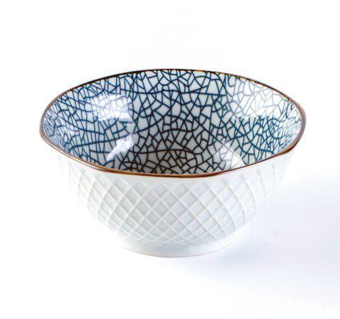 1 Piece Simple Style Ceramic Household Rice Bowl - GLACIAL BLUE ICE 13*13*6