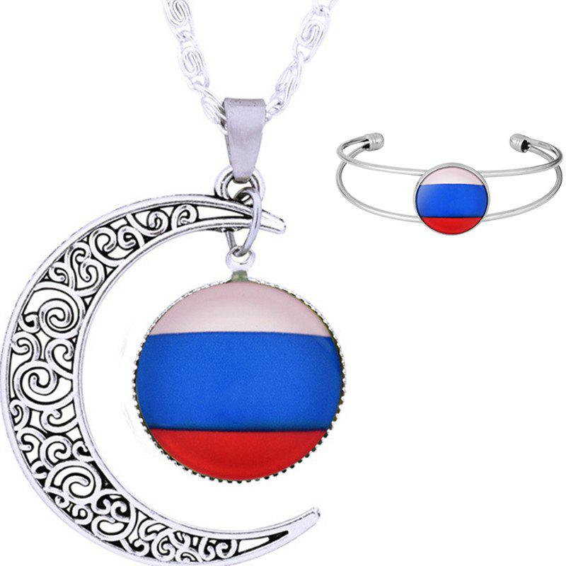 Necklace and Bracelet Fans Articles Souvenir Gift - BLUE EYES