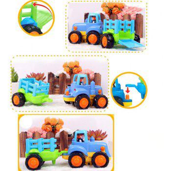Early Education Baby Push and Go Car Truck Toy Set for Children - multicolor