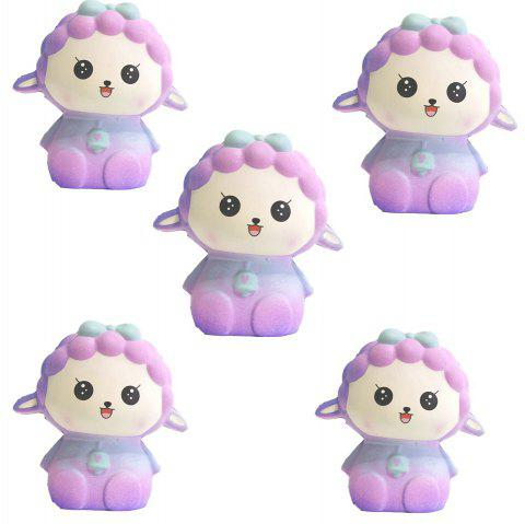 Simulation Slow Rebound Series of Lovely Elastic Lamb Toys 5PCS - multicolor A