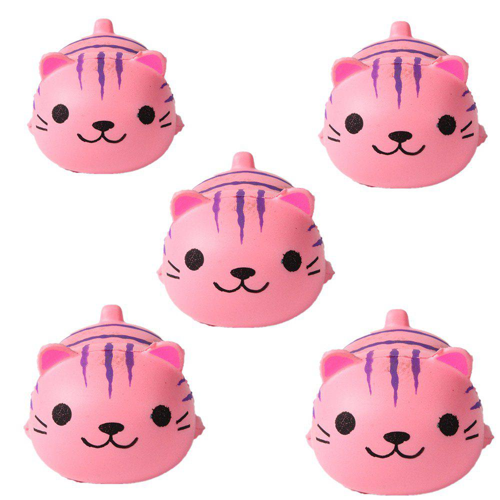 Emulation Slow Rebound Series of Lovely Elastic Cat Toys Jumbo Squishy 5PCS - LIGHT PINK