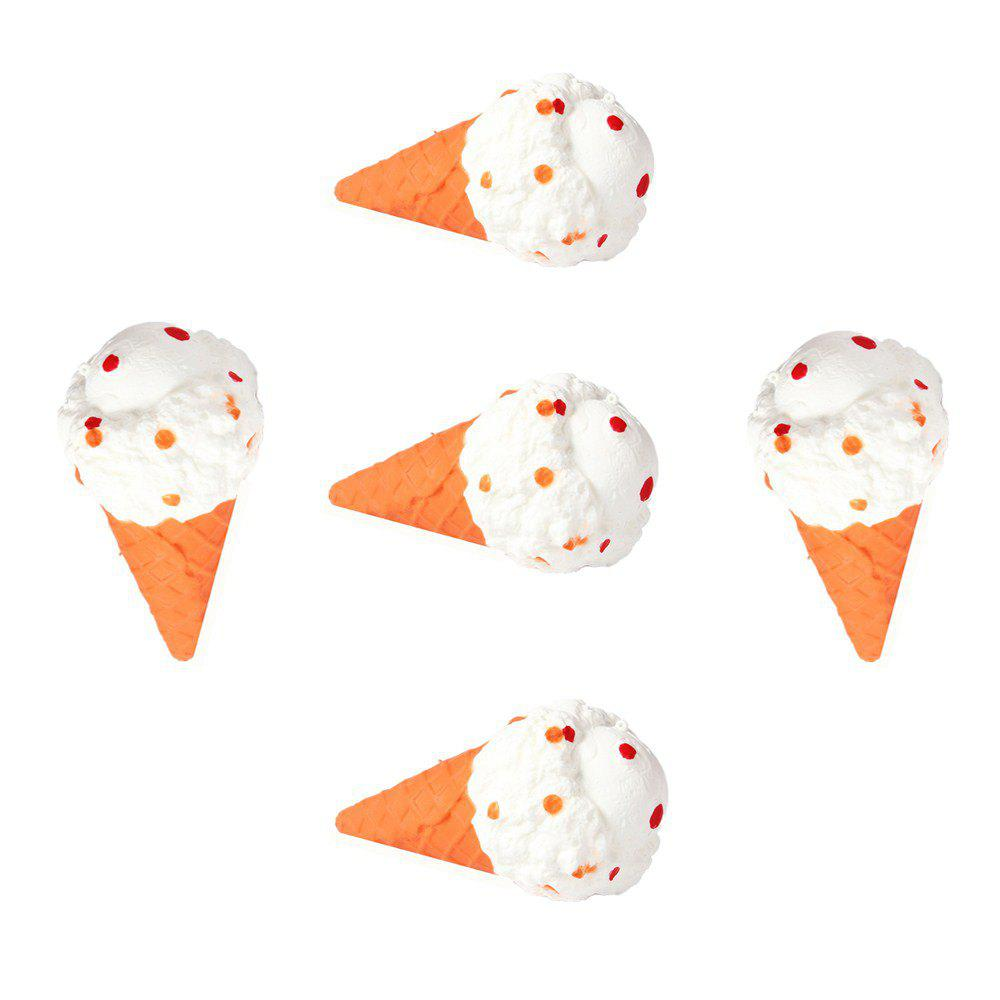 Jumbo Squishy Emulation Slow Resilient Series of Lovely Elastic Ice Cream Toys 5PCS - multicolor A