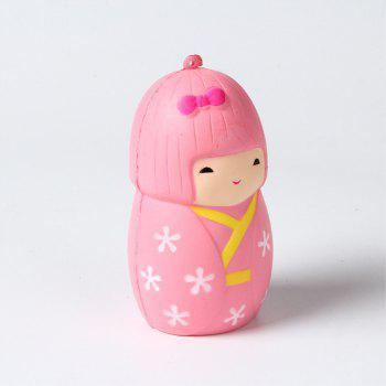 Slow Rebound Series Cute and Elastic Japanese Girl Toys Jumbo Squishy 5PCS - multicolor A