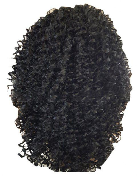 Small Black Medallion with a Head Of Lace - BLACK 22INCH