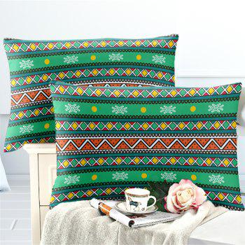 Hot Selling Bohemia National Pattern Series Christmas Element Bedding Set BK111 - MEDIUM FOREST GREEN EURO KING