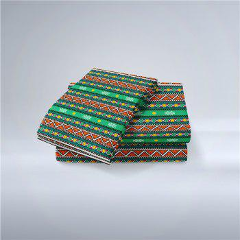 Hot Selling Bohemia National Pattern Series Christmas Element Bedding Set BK111 - MEDIUM FOREST GREEN DOUBLE