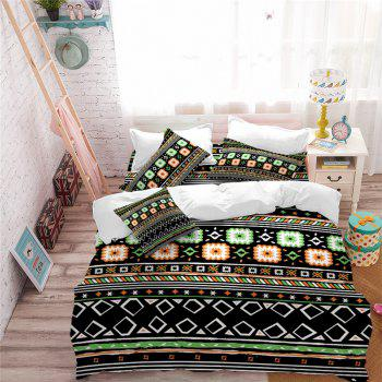 Hot Selling Bohemia National Pattern Series Christmas Element Bedding Set BK115 - BLACK TWIN