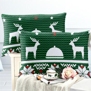 Hot Selling Bohemia National Pattern Series Christmas Element Bedding Set BK123 - MEDIUM SPRING GREEN FULL