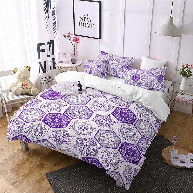 Hot Selling Bohemia National Pattern Series Christmas Element Bedding Set GB82 - THISTLE EURO KING