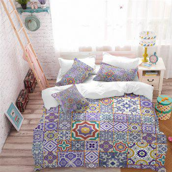 Hot Selling Bohemia National Pattern Series Christmas Element Bedding Set GB85 - PERIWINKLE DOUBLE