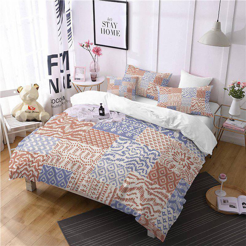 Hot Selling Bohemia National Pattern Series Christmas Element Bedding Set GB93 - SAFFRON SINGLE