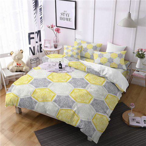 Hot Selling Bohemia National Pattern Series Christmas Element Bedding Set GB95 - YELLOW SINGLE