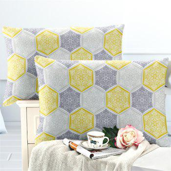 Hot Selling Bohemia National Pattern Series Christmas Element Bedding Set GB95 - YELLOW QUEEN