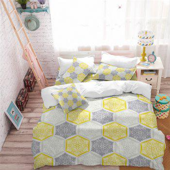 Hot Selling Bohemia National Pattern Series Christmas Element Bedding Set GB95 - YELLOW DOUBLE