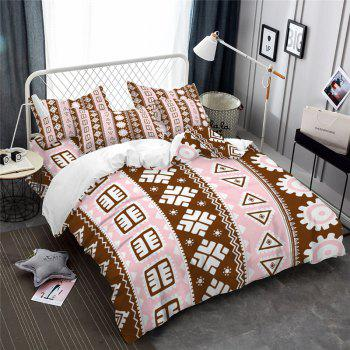 Hot Selling Bohemia National Pattern Series Christmas Element Bedding Set GB116 - OAK BROWN FULL