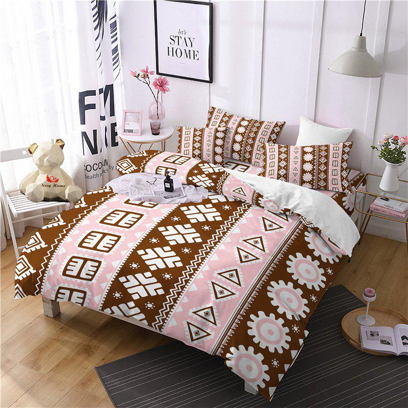Hot Selling Bohemia National Pattern Series Christmas Element Bedding Set GB116 - OAK BROWN DOUBLE