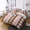 Hot Selling Bohemia National Pattern Series Christmas Element Bedding Set GB116 - OAK BROWN EURO KING