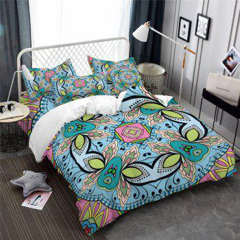 Hot Selling Bohemia National Pattern Series Christmas Element Bedding Set GB227 - SEA TURTLE GREEN QUEEN