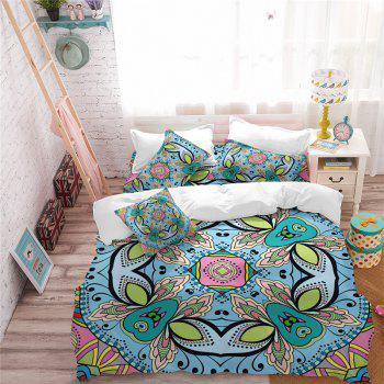 Hot Selling Bohemia National Pattern Series Christmas Element Bedding Set GB227 - SEA TURTLE GREEN CALIFORNIA KING