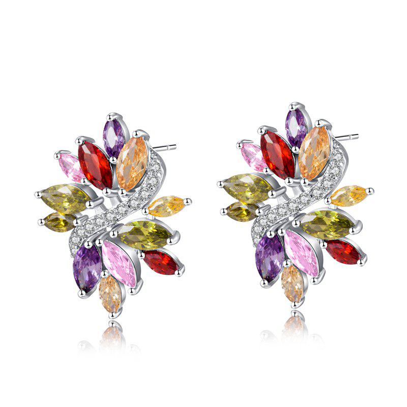 Fine Zircon Earrings ERZ0682 - WHITE