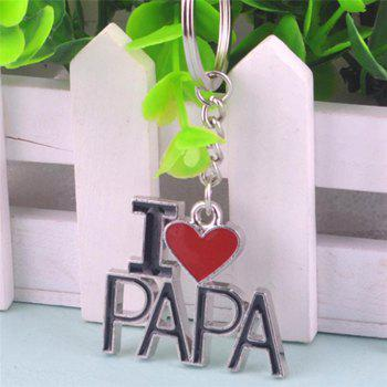 Father Day Keychain Small Gift - BLACK