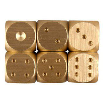 Metal Gold Color Portable Solid Heavy Dice Party Drinking Game 5PCS - GOLD